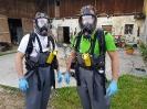 Atemschutzübung in der Güllegrube